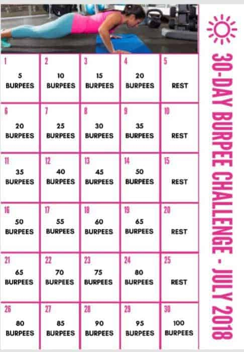 30-Day burpee challenge for intermediate to advanced users!