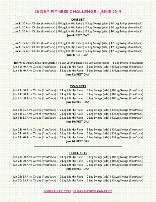 30 Day Fitness Challenge that' easy on the knees