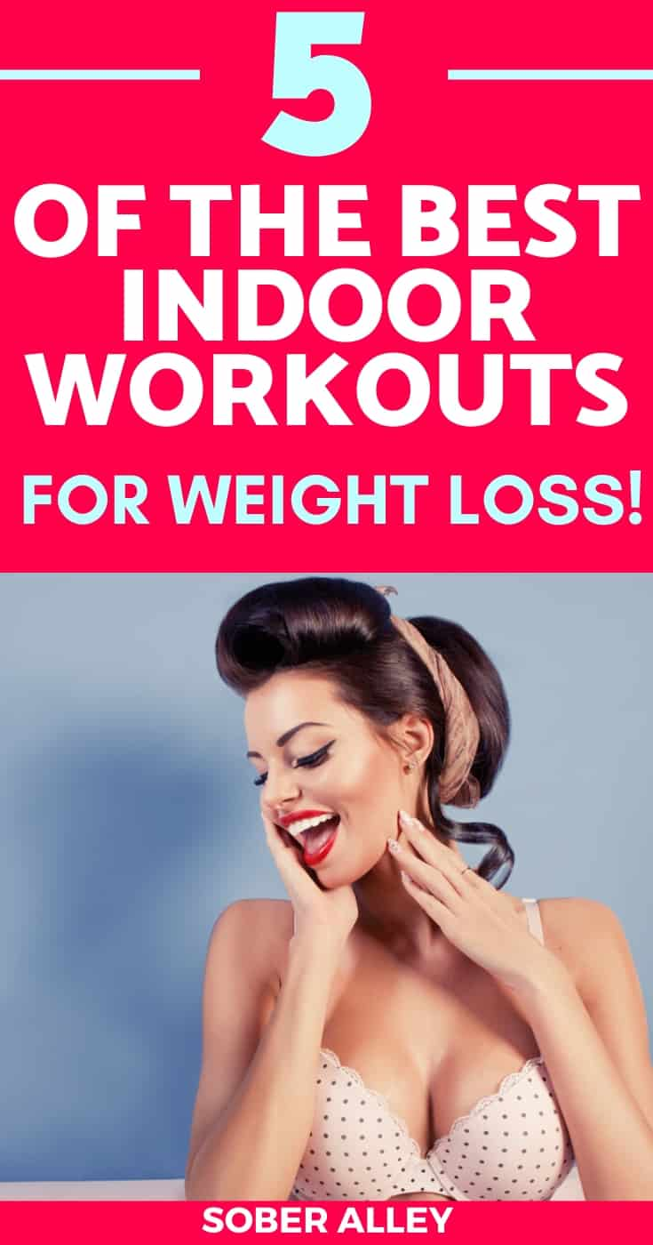 indoor workouts pinterest image