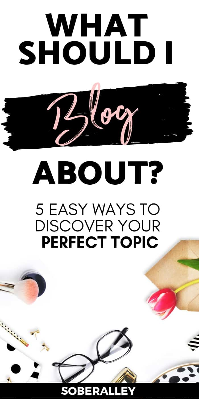 "If you've ever wondered, "" What should I blog about ?"", don't miss this post! It has great tips for helping you find the perfect blog niche."