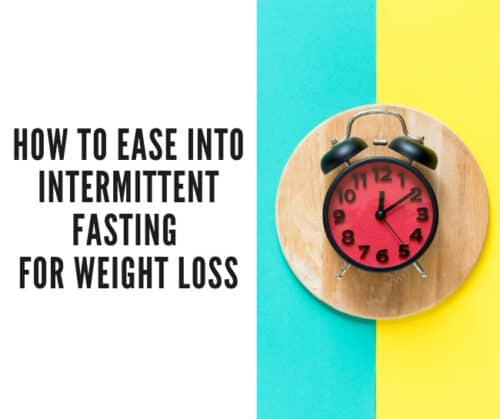 intermittent fasting header with clock