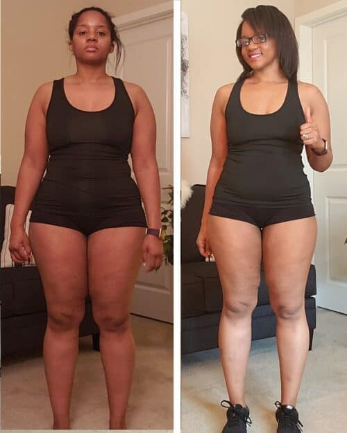 intermittent fasting before and after picture