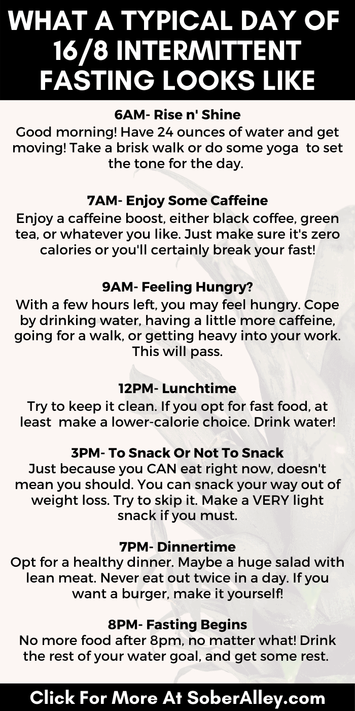 Intermittent Fasting 16/8 Schedule - Hour By Hour