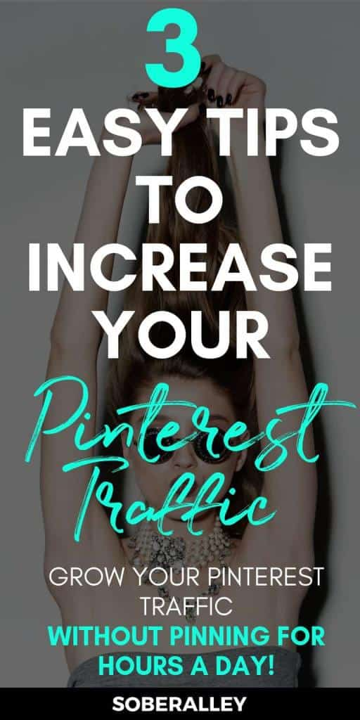 Blog Tips: Increase your Pinterest traffic with these 3 easy tips. If you want to make money blogging you'll need blog traffic -- bottom line. Here are 3 pinterest tips and blog tips to help grow your blog traffic.